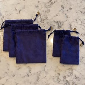 Lot of Tory Burch Jewelry Dust Bags - 5 Pieces